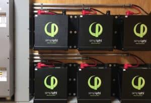 Lithium ion solar battery
