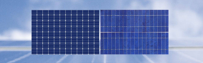 Monocrystalline and Polycrystalline solar panels efficiency