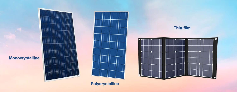 Best solar panels - Types